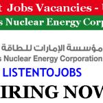 100+  Latest Job Vacancies in Emirates Nuclear Energy Corporation (ENEC) | Any Graduate/ Any Degree / Diploma / ITI |Btech | MBA | +2 | Post Graduates | UAE