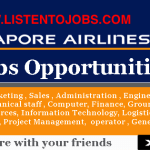 Latest Job Vacancies in Singapore Airlines 2020 | Any Graduate/ Any Degree / Diploma / ITI |Btech | MBA | +2 | Post Graduates  | Singapore
