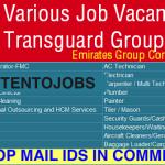 Huge Latest Urgent Vacancies Recruitment in Dubai @Emirates Transguard Group