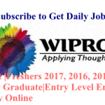 Wipro Fresher Registration Link |Freshers 2018,2017, 2016, 2015, 2014 Pass outs|Any Graduate/Post Graduate|Entry Level Engineer|Across India |Apply Online