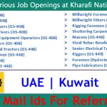 Latest Job Vacancies in Kharafi National | Any Graduate/ Any Degree / Diploma / ITI |Btech | MBA | +2 | Post Graduates | UAE,Kuwait