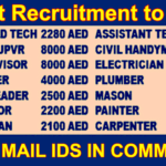 Urgent Recruitment to Dubai 28th May 2017 |Facility Management | Any Graduate/ Any Degree / Diploma / ITI |Btech | MBA | +2 | Post Graduates | Admin | HR | Accounting | Sales | Engineer | Manager | Supervisor | Operations