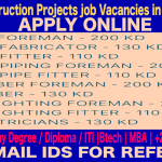 Latest Construction Projects job Vacancies in Kuwait 2017 | APPLY ONLINE