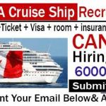 Latest Cruise Ship Jobs in Canada 2020 |  Any Graduate/ Any Degree / Diploma / ITI |Btech | MBA | +2 | Post Graduates | Apply Online