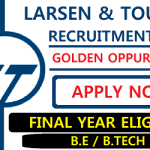 L&T Off Campus Recruitment | BE/ B.Tech – Civil & Electrical Engineering  | L&T Build India Scholarship – BIS 2020 | 2020 Batch | Across India  | Apply ASAP