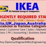 Latest Job Vacancies in IKEA 2021| Any Graduate/ Any Degree / Diploma / ITI |Btech | MBA | +2 | Post Graduates | Dubai,Qatar,Abu Dhabi,Egypt,USA,UK,India,Australia ,Japan,China