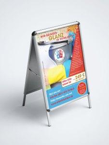 Plakatständer_Aluminium DIN A1