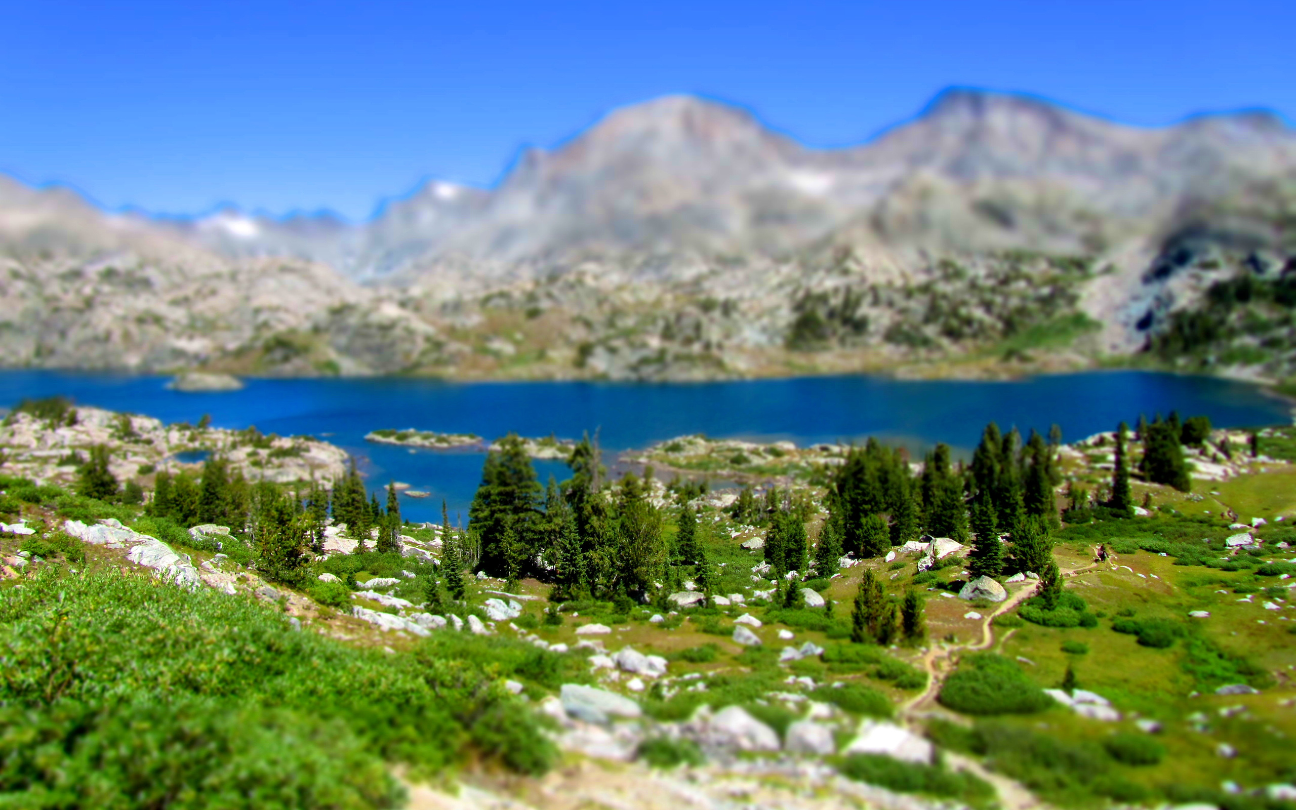 Beautiful Nature And Landscapes Tilt Shift Wallpaper