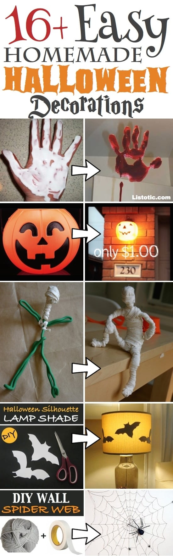 Easy homemade halloween decorations - Easy Homemade Diy Halloween Decor For Indoors And Outdoors Perfect Projects For The Front Porch