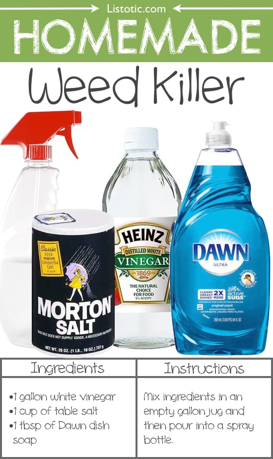 #19. Homemade Weed Killer -- 22 Everyday Products You Can Easily Make From Home (for less!) These are all so much healthier, too!