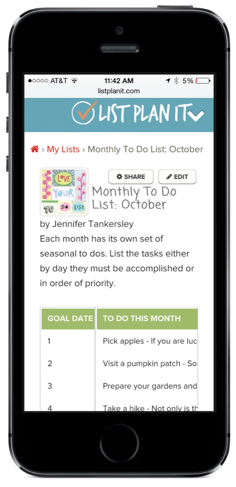 Monthly To Do List: October | ListPlanIt.com