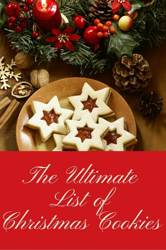 The Ultimate Christmas Cookie List