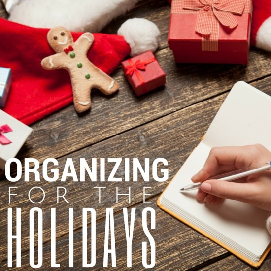 organizing for the holidays
