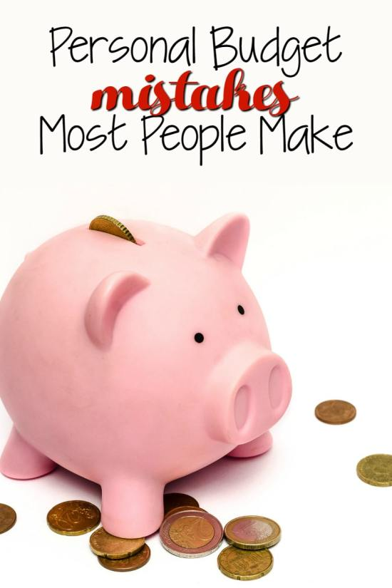 personal budget mistakes people make
