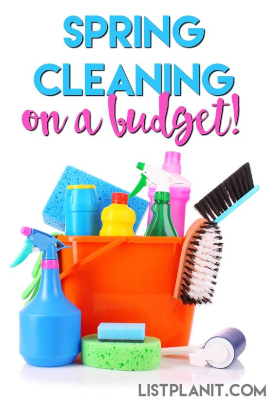 spring cleaning on a budget