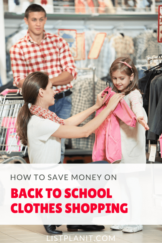 How to Save Money on Back to School Clothes
