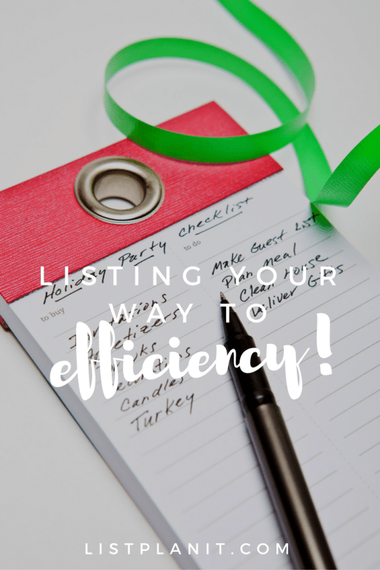 Listing Your Way to Efficiency