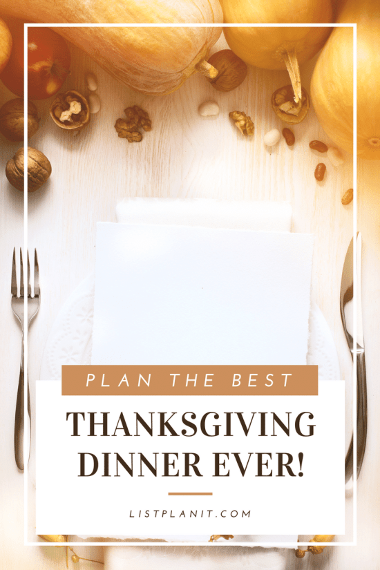plan the best thanksgiving ever