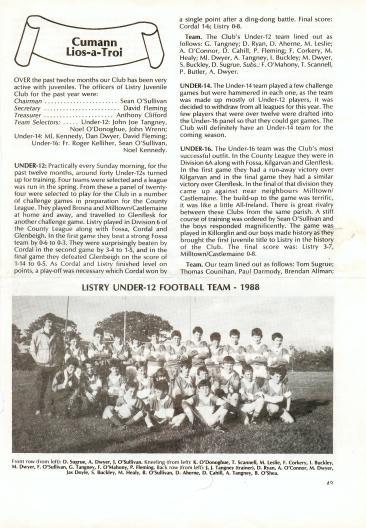 History of Listry Gaa30