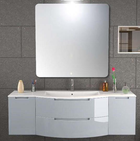 57 inch modern floating bathroom vanity
