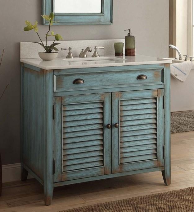adelina 36 inch cottage bathroom vanity, crystal white marble