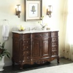 Adelina 56 Antique Style Bathroom Vanity Fully Assembled White Marble Counter Top