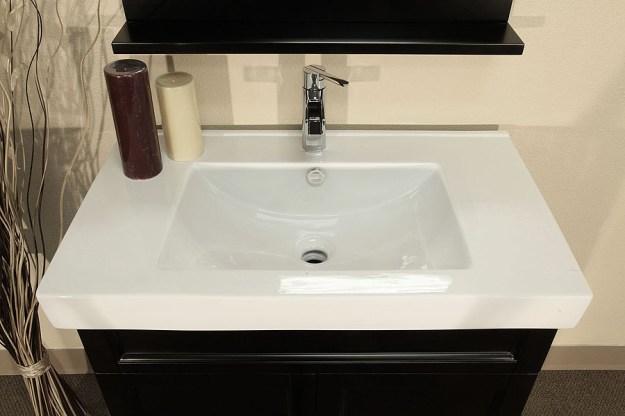bellaterra home 203131 bathroom vanity - black wood cabinet