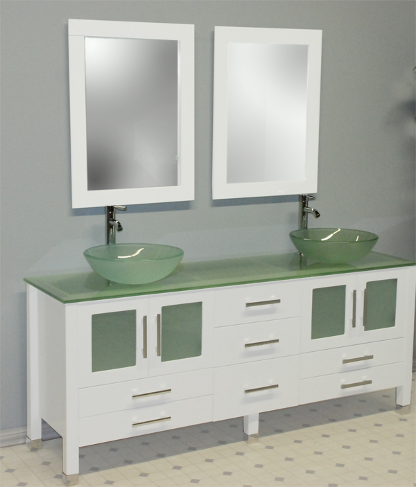 71 solid wood frosted glass double