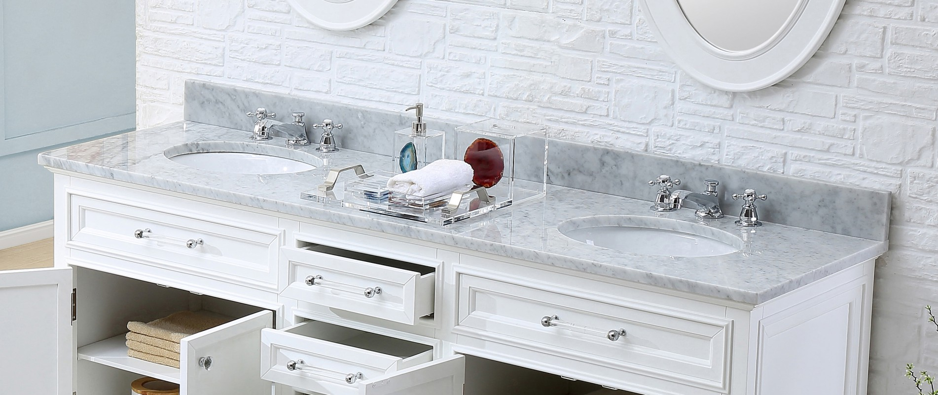 60 inch traditional double sink