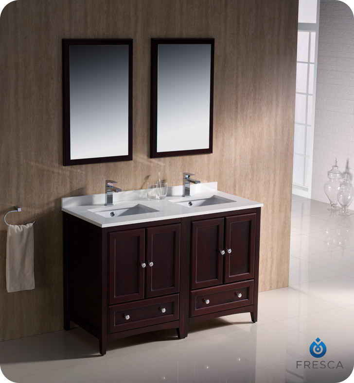 sink faucet and linen cabinet option