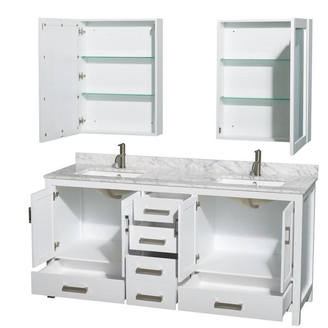 Beautiful Inch Bathroom Vanity Double Sink White Photos