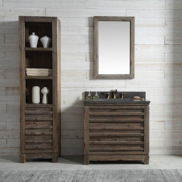 36 inch distressed wood bathroom vanity moon stone countertop