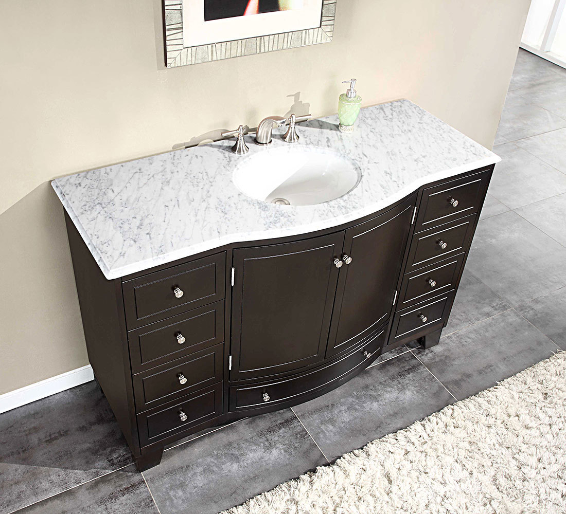 55 inch single sink bathroom vanity