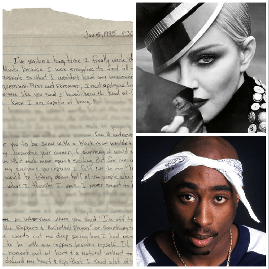 Madonna and Tupac's Relationship: Examining the Prison Letter, Do 'Homies' Break Up