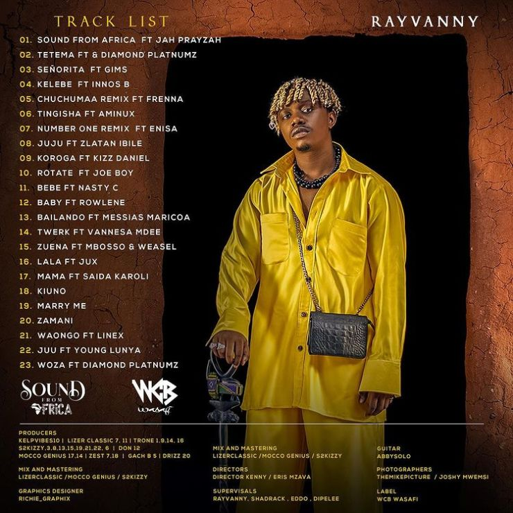 Rayvanny – Sounds From Africa Ep, Album Zip Download