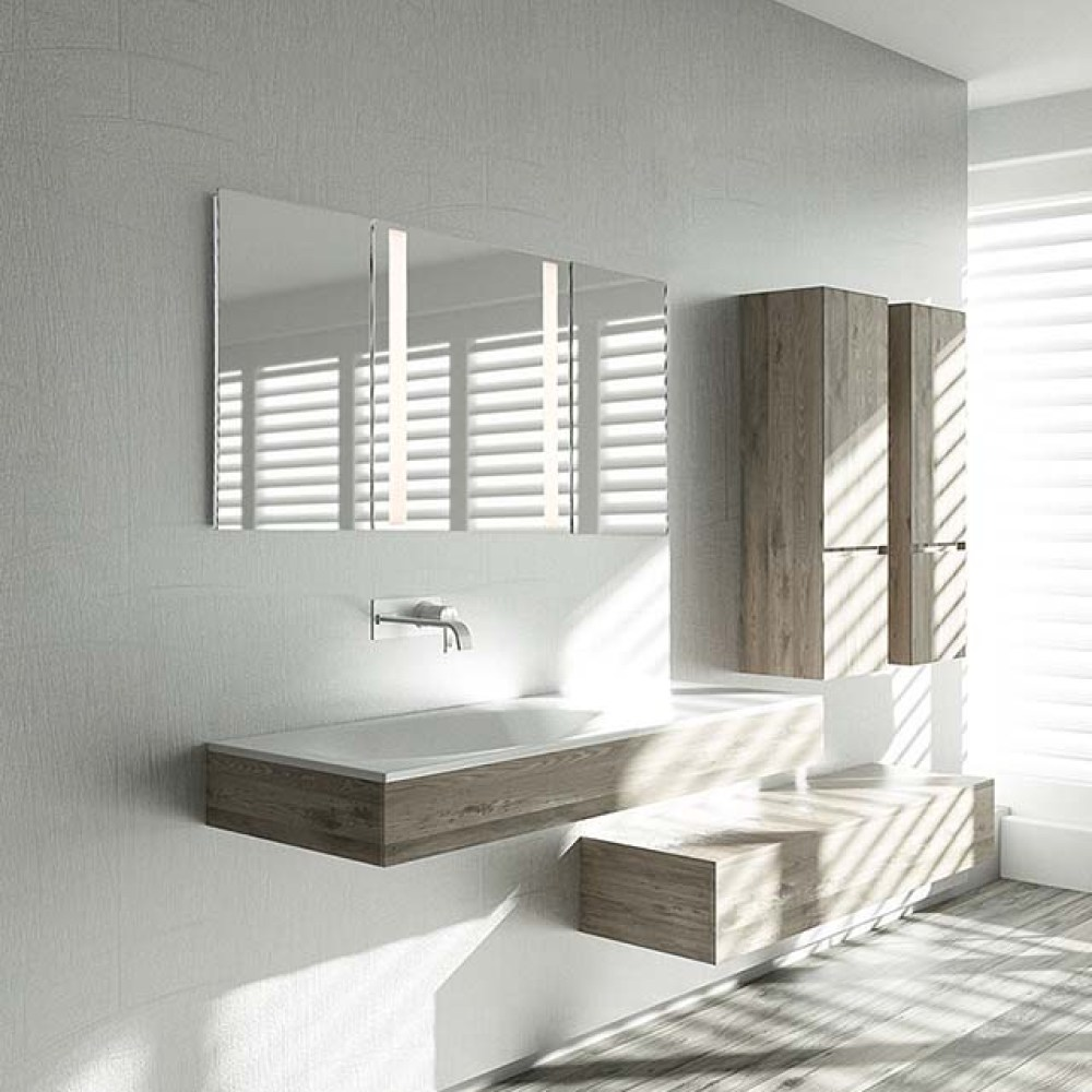 Tri-fold Mirror Light