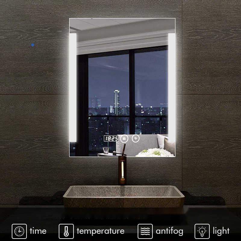 Illuminated Mirrors Do Double Duty in the Bath