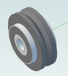 V wheel assembly - finished