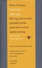 Omslag Gedichten 1962-1990 - Hans Faverey, Bezorgd door Marita Mathijsen