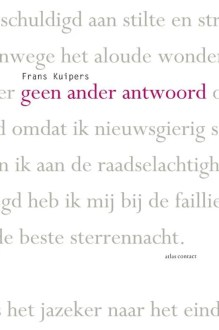 Omslag Geen ander antwoord - Frans Kuipers