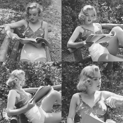 Marilyn Monroe with her books (12)