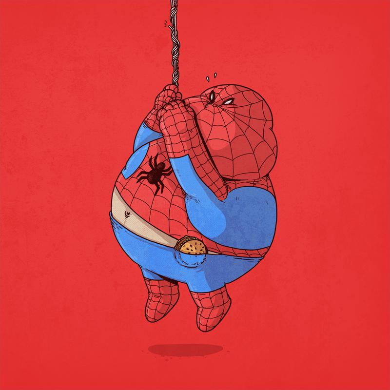 spiderman gordo