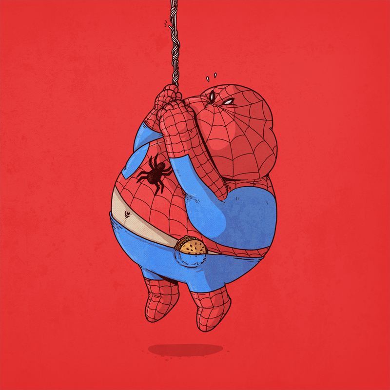 spiderman gordo