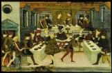 Alatiel en el banquete antes de echarse unos vinos