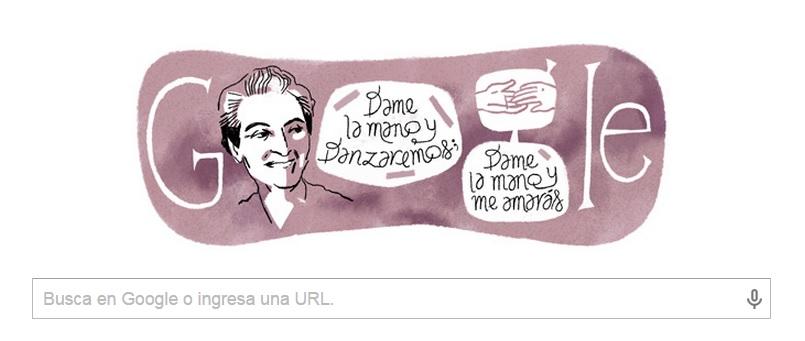 Homenaje de Google a la escritora chilena por su cumpleaños 126.