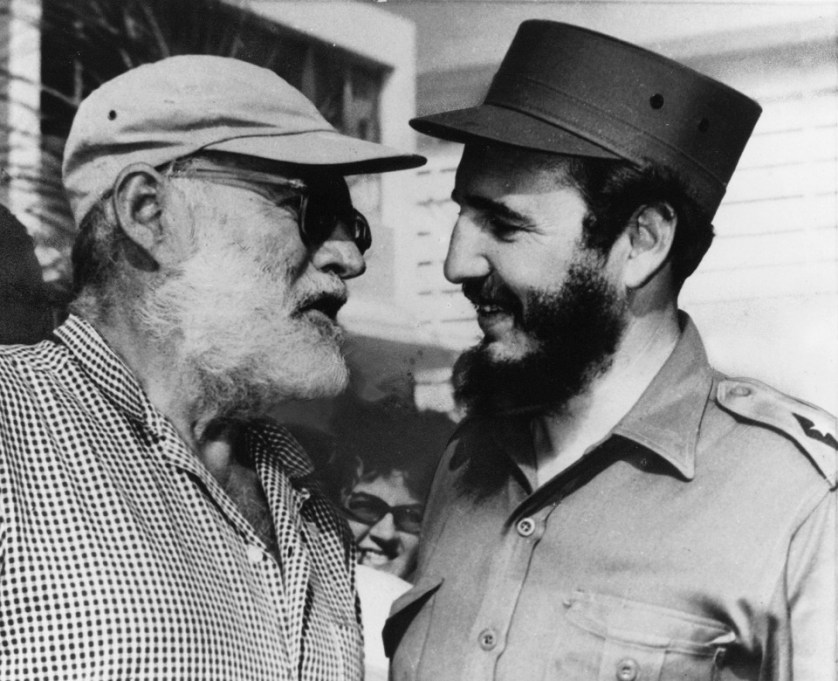 Hemingway y Fidel / Foto:  The Atlantic