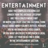 entertainment submit