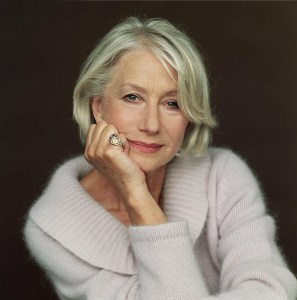 Helen Mirren wearing a sweater.