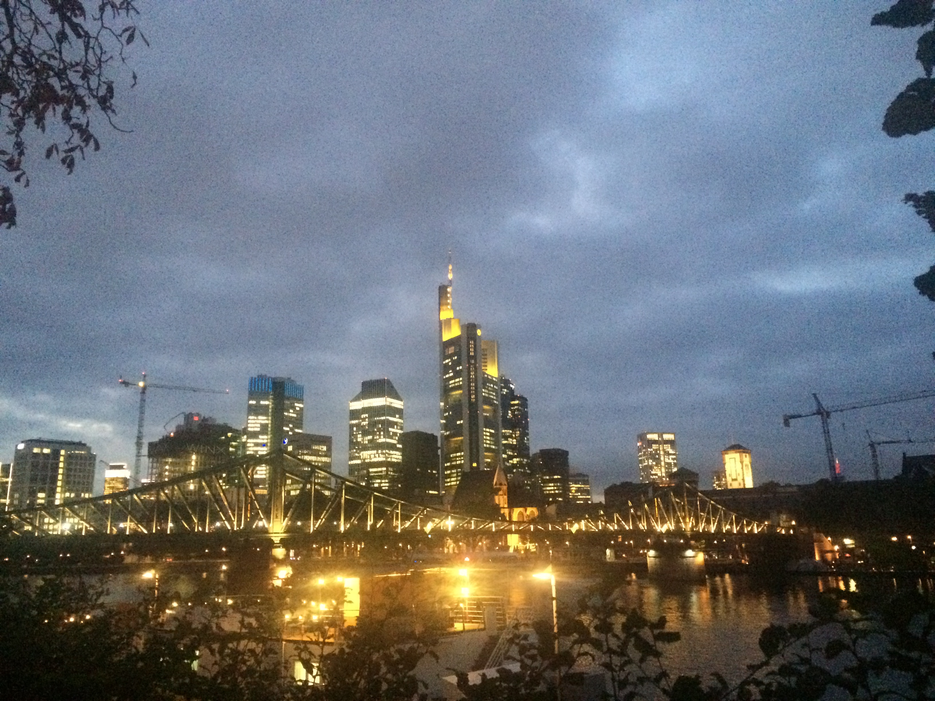 The skyline in Frankfurt, Germany.