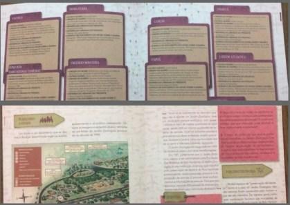 Imagens do interior de um dos livros da coleção histórias dos bairros de bh
